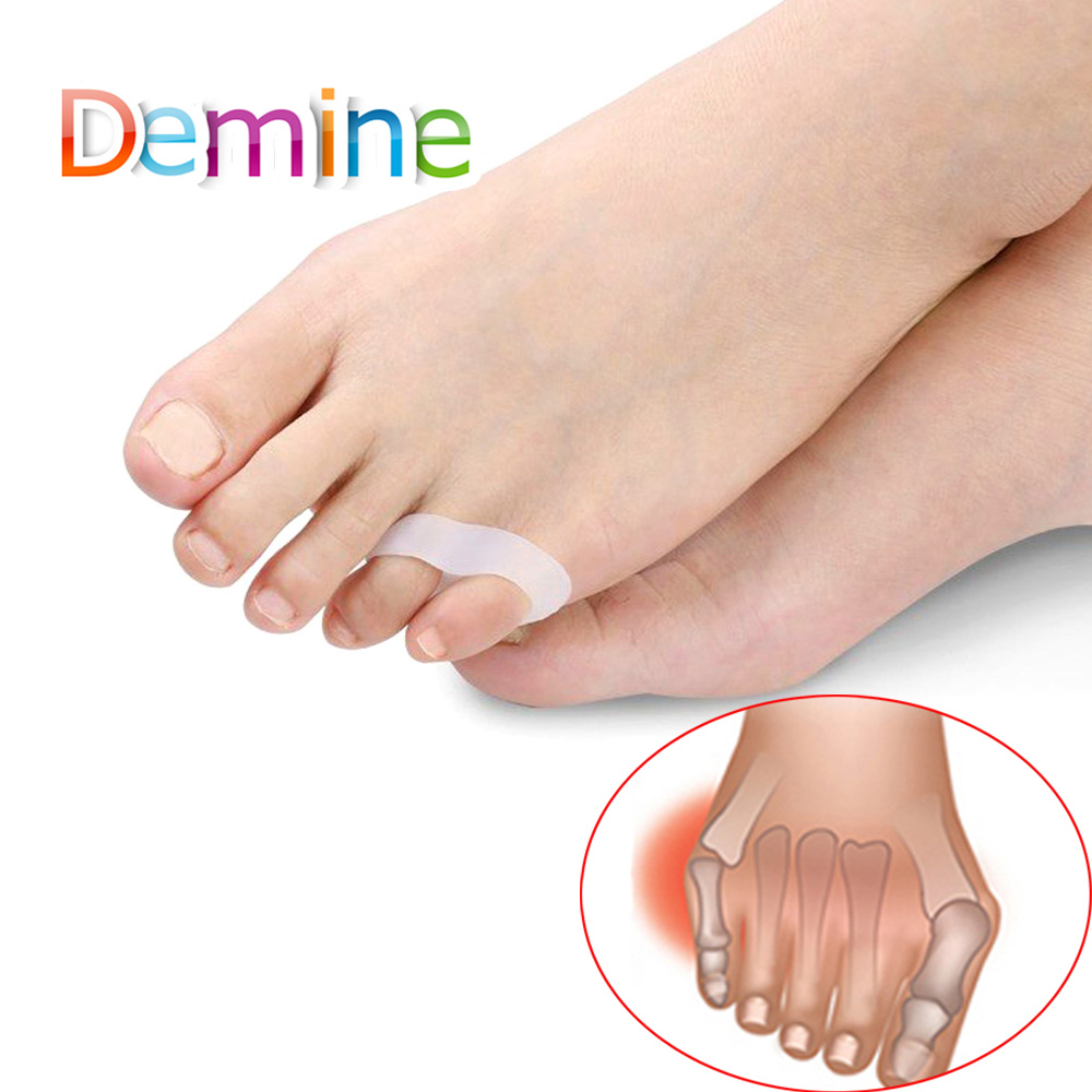 Demine Silicone Gel Small Toe Separator For Prevent Toe Overlap Hallux Valgus Toe Tube Thumb Protection Orthopedic Inserts Pad