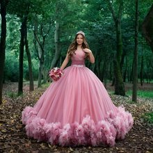 Sweet 16 pink quinceanera dresses off shoulder ruched ball gown