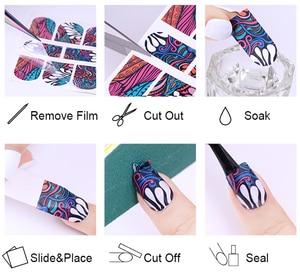 Image 5 - 1 лист наклейки для ногтей водяные цветы серии Маргаритка Лаванда наклейки для ногтей животные серии океан кошка растение переводная наклейка