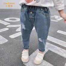 Джинсы с дырками джинсы для девочек штаны маленьких мальчиков