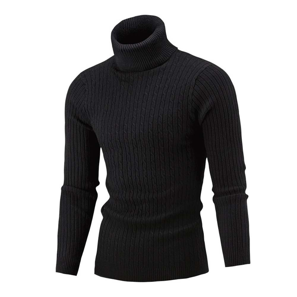 Hiver hommes Slim chaud tricot col haut pull pull pull haut à col roulé grande taille M-5XL pull homme sueter hombre sweter 2019