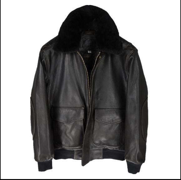 Free Shipping,Air Force Leather Jacket.goatskin G1 Style Winter Coat.Eur Size Cotton Genuine Leather Men.sales.wool Collar