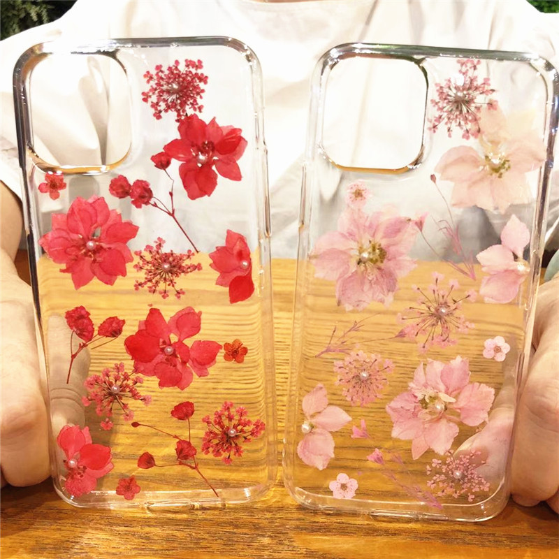 Real Dried Flowers Clear TPU Case for iPhone 11/11 Pro/11 Pro Max 20