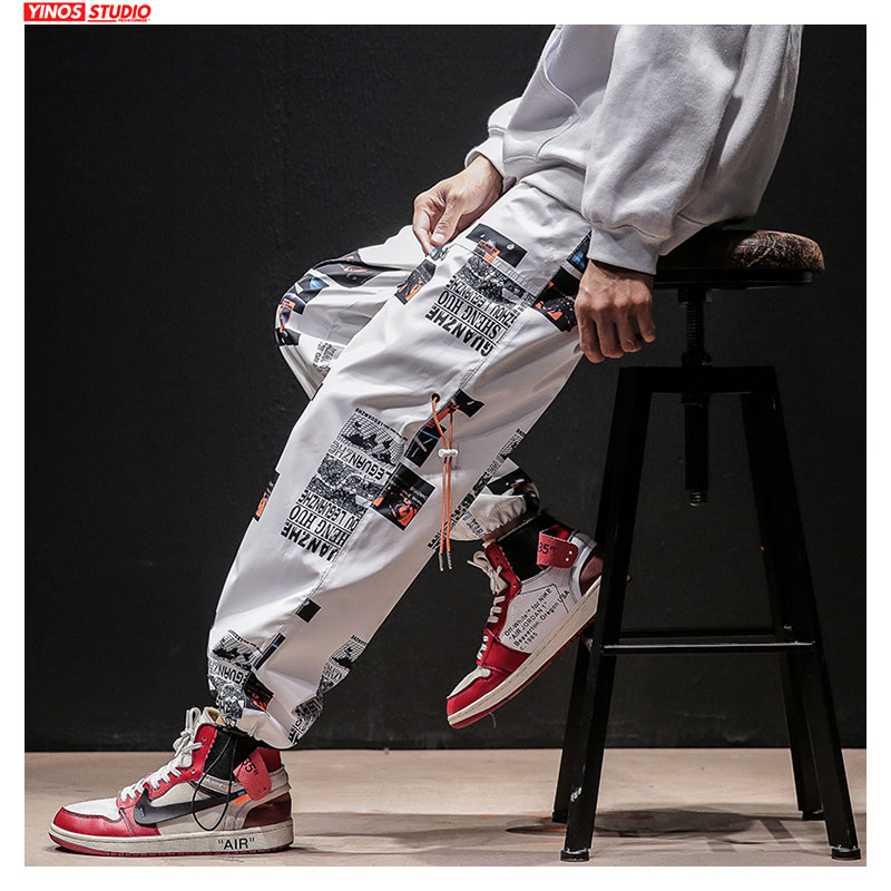 Dropshipping Autumn Men Streetwear Causal Pants Mens Japanese Hip-Hop Loose Harem Joggers Pants Male Oversized Sport Toursers