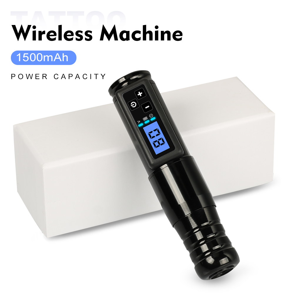 Wireless Tattoo Machine Electric Portable Lithium Battery Pen Customized Coreless Motor 1500 mAh Replaceable Tattoo Accessories