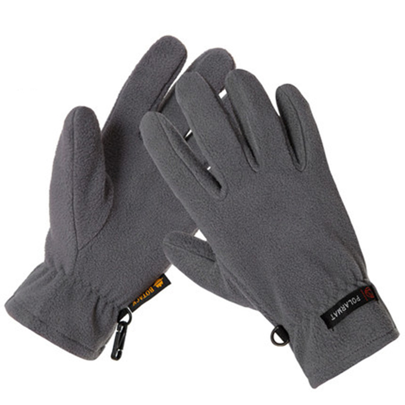 CUHAKCI Hot Fashion Brand Winter Men Women Outdoor Sports Leisure Keep Warm Fleece Windproof Gloves Full Finger Climbing Gloves