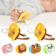 Детские Силиконовые соски-пустышки успокаивающий младенцев укус жевать поставки новорожденного комфорт успокоить ниппель на плоской подо...