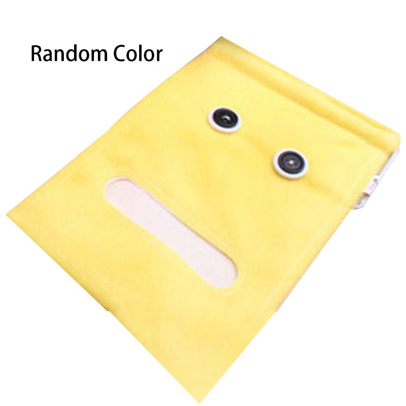 Creative Cute Cartoon Plush Big Eyes Hanging Tissue Holder Wall-Mounted Cloth Craft Toilet Roll Paper Case Napkin Container Box