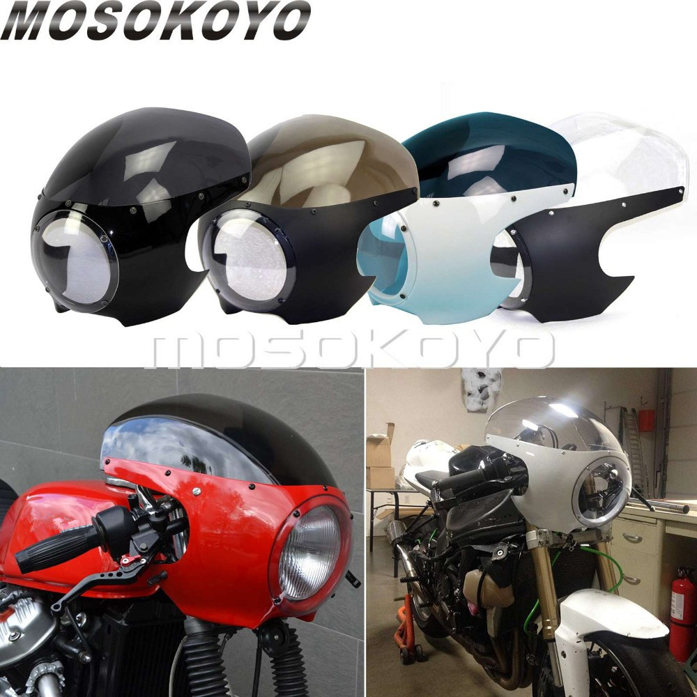 Motorcycle Cafe Racer Headlight Fairing 5-3/4