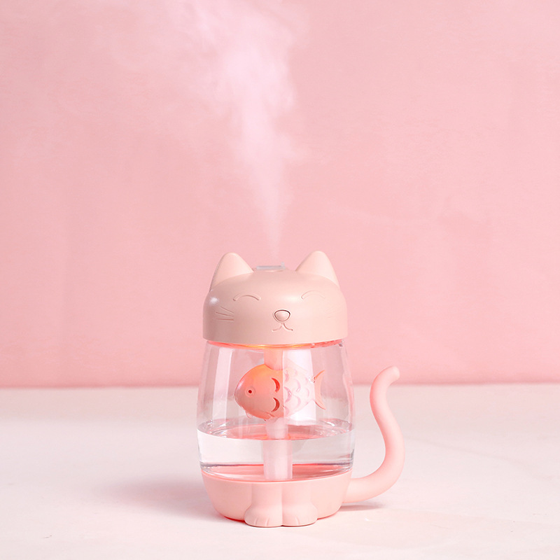Customizable Cat Desktop Bedroom Air Atomization Mute Three-in-One USB Mini Creative New Style Humidifier