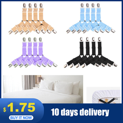 BedSheet 4Pcs/set Elastic Bed Sheet Strong Clip Grippers Bed Sheet Adjustable Bed Sheet Clip Bed sheet Belt Fastener Mattress