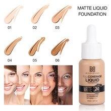 Nouveau Fond De Teint maquillage 6 couleurs liquide mat hydratant visage Base haute couverture éclaircir correcteur crème Fond De Teint TSLM1