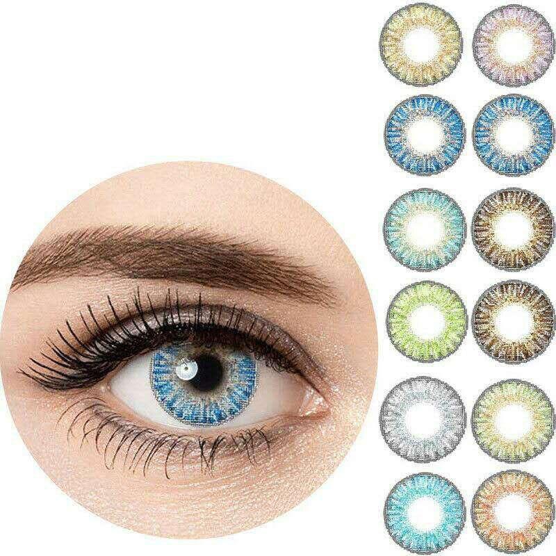 3-Tone Colored Women Contact Lens Flashlook Men Cosmetic Makeup Soft Student Korea Solotica Contact Lens For Men Women