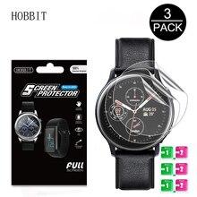 3 pacote para samsung galaxy watch active2 40mm/44mm relógio inteligente 5 h tpu nano anti choque alta definição protetor de tela filme claro