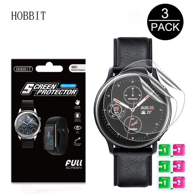 3Pack For Samsung Galaxy Watch Active2 40mm/44mm Smart Watch 5H TPU Nano Anti shock High Definition Screen Protector Clear Film