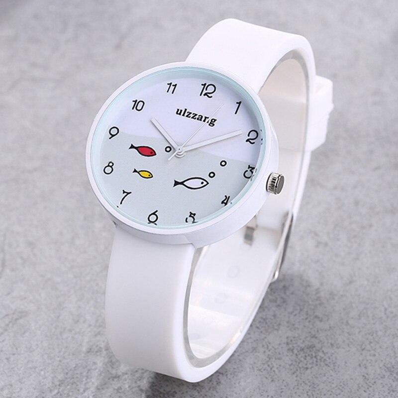 Giá bán Luxury childrens watch girl color silicone strap fashion quartz watch small fish dial cartoon childrens watch