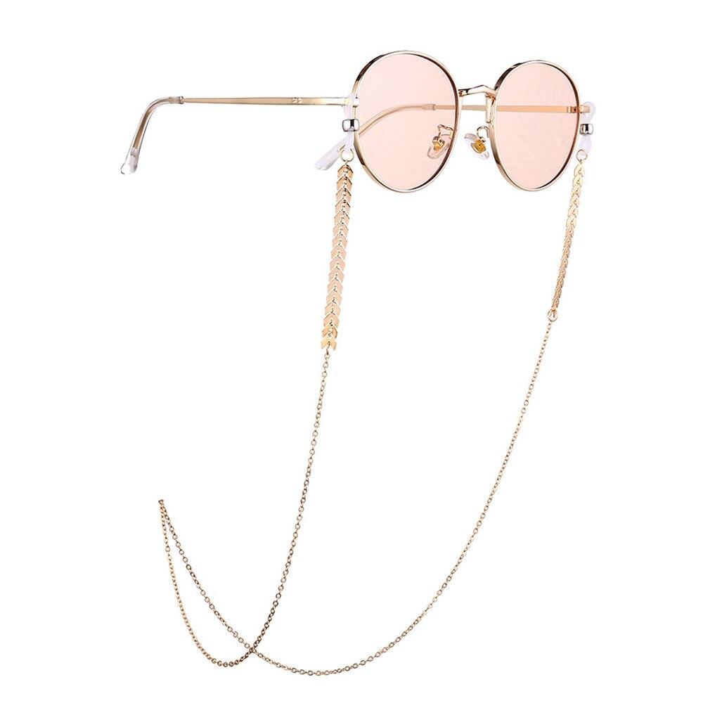 Bohend Moda Perlas Cadena de gafas de sol Oro Cadena de mascarilla Mujer Cadena de anteojos Accesorios para gafas por Anteojos y mascarillas