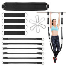 Elastic Resistance Band Horizontal Bar Slings Straps Hanging Pull-Up Training Bar Auxiliary Belt Arm Strength Fitness Equipment