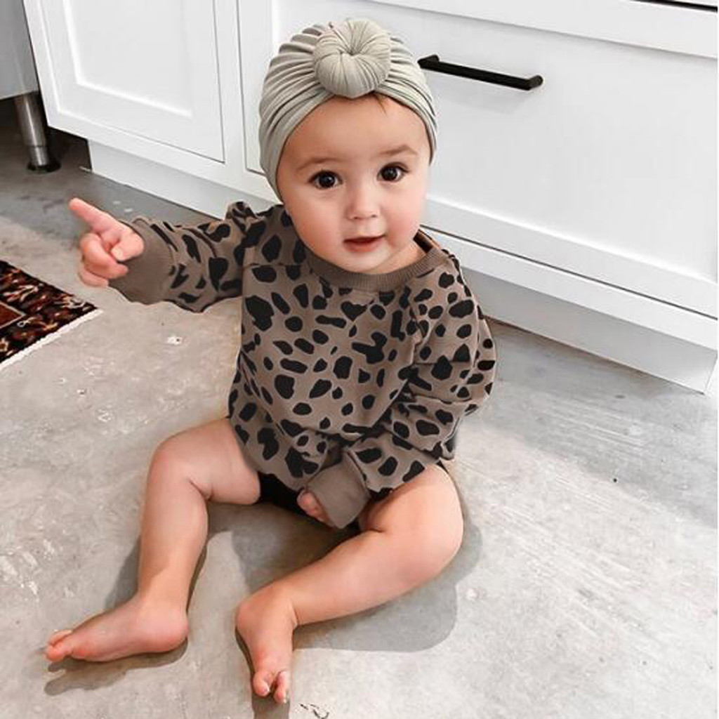 Toddler Baby Girls Leopard Print Pullover Sweatshirt Tops Casual Clothes modis toddler fall clothes sweatshirt kids girls cloth