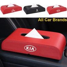 1 Uds cuero caja de pañuelos de coche cubierta de tejido compartimentos, soporte para Peugeot 107, 108, 206, 207, 301, 308, 307, 407, 408, 508, 2008, 3008, 4008, 5008