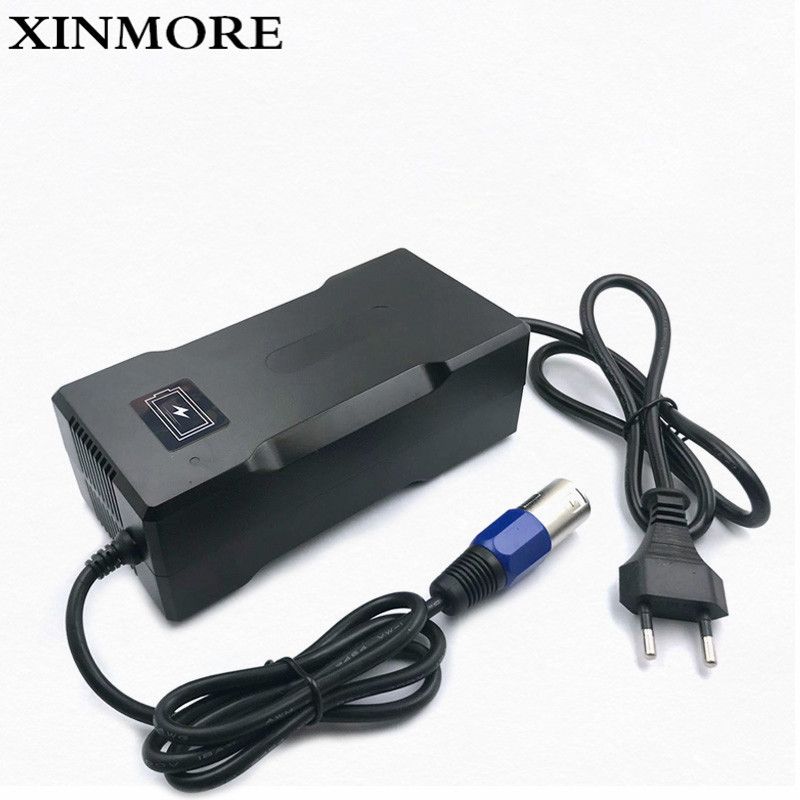 XINMORE Charger 42V 4A Scooter Lithium Li ion Battery Charger Bike AC DC 36V 4A for Switch Bicycle Electric Tool XLB Plug|Chargers| |  - title=