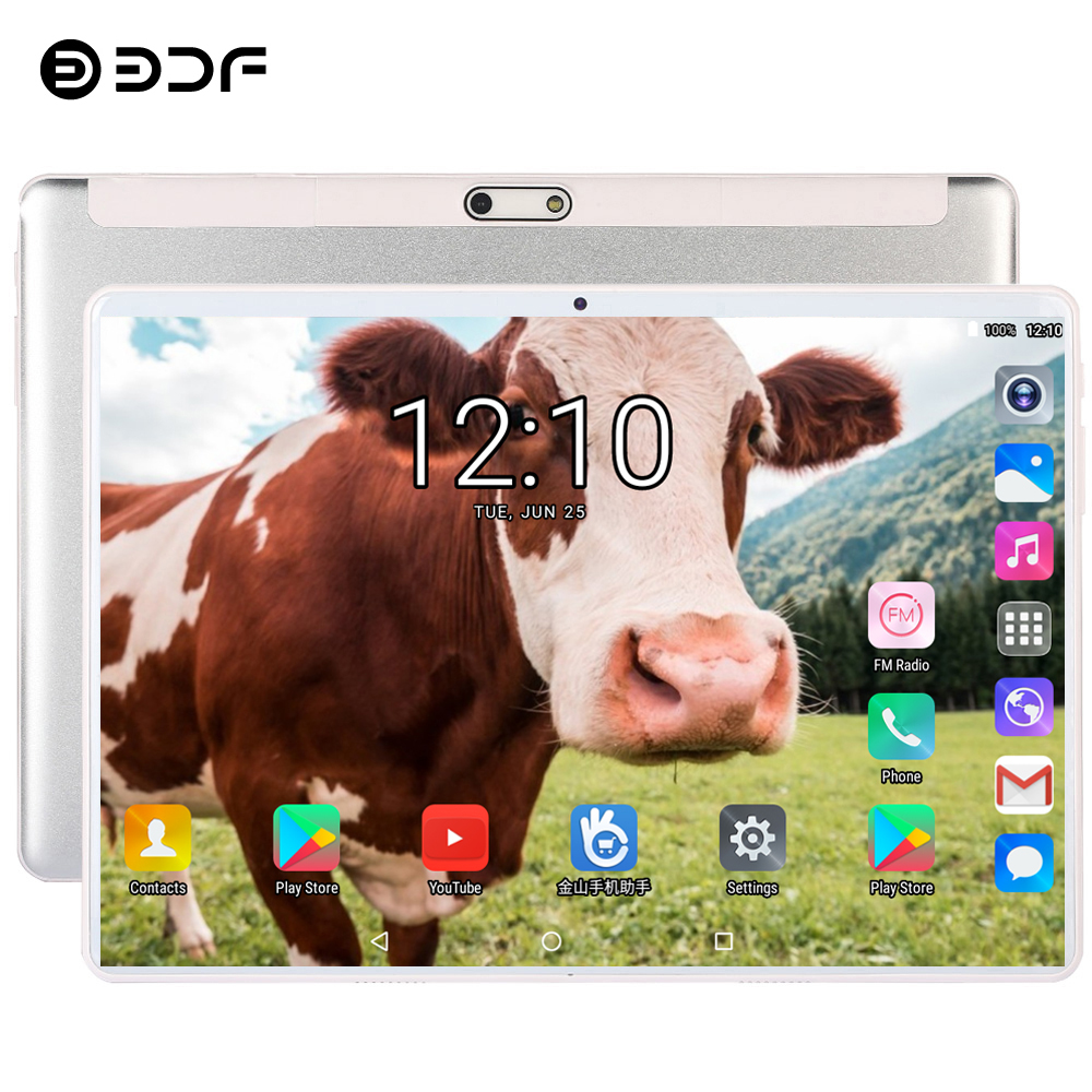 BDF 10 Inch Android 7.0 Tablet Pc Dual SIM Card 3G Phone Call Tablet Quad Core 1GB/32GB WiFi Bluetooth 5.0MP Android Tablet 10.1