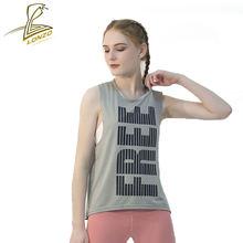 Жилет для йоги lonzo сексуальная сетчатая дышащая футболка без
