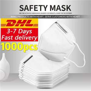 Dhl 1000pcs 1000pcs 1000pcs 1000pcs Mask Safety Respirator Protective Mask Face KN95Masks Mouth Dustproof Reuseable