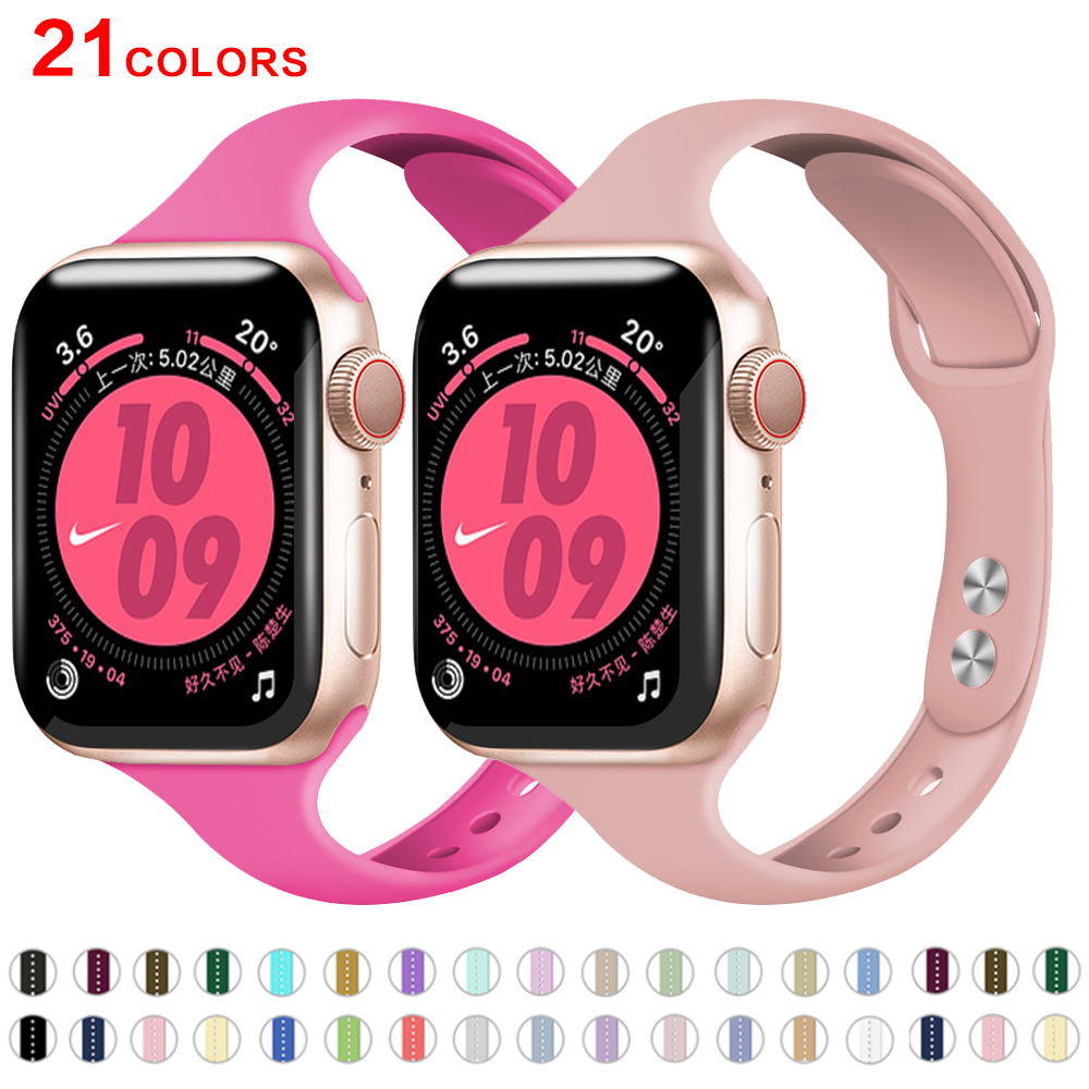 Silicone Strap For Apple Watch Band 38mm 42mm Iwatch 4 Band 44mm/40mm Sport Bracelet Rubber Watchband For Iwatch 5 4 3 2 1
