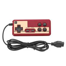 핫 유선 8 비트 TV 빨간색과 흰색 기계 비디오 게임 플레이어 NES 게임 재생을위한 Subor 용 Coolboy 용 Gampad 컨트롤러 핸들