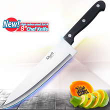 Kitchen Knives High Carbon Stainless Steel Knife 8 inch 3CR13 420C Japanese Chef Knife Fruit Vegetable Meat Cleaver Cooking Tool