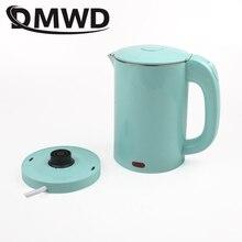 DMWD двойной Напряжение путешествия в сфере отопления горячей водой Электрический чайник мини Электрический кипения горшок нагреватель Нержавеющая сталь Портативный котел Чай горшок 110V 220V