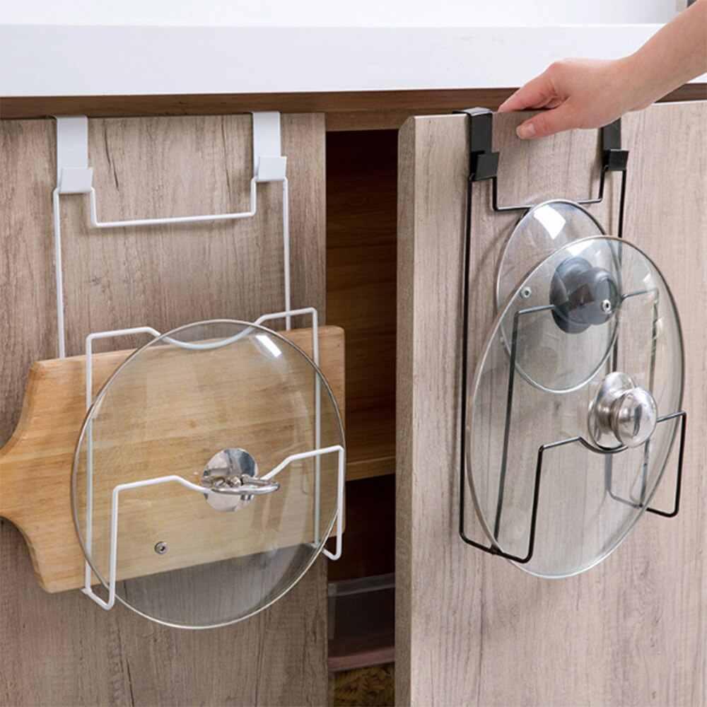 New Pot Cover Shelf Cupboard Door Hanging Pan Lid Holder Storage Rack Stove Organizer Stand Kitchen Accessories Cookware|Storage Holders & Racks| - AliExpress