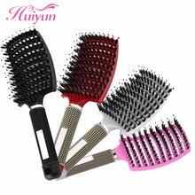 Huiyun Hot Hair Brush Bristle Scalp Massager Comb Hairbrush Nylon Women Wet Curly Tangle Hair Brush Salon Hairdressing Styling
