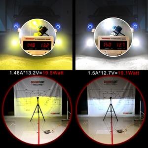 Image 4 - CNSUNNYLIGHTยาวLED H11 H8 ไฟหน้ารถFanless 3600Lm/หลอด 9005 HB3 9006 HB4 สีขาวสีเหลืองLight Foglampรถอุปกรณ์เสริม