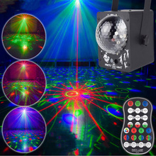 60 Color RGB Stage Lights LED Voice-Activated DJ Disco Lights Party Performance Laser Projector Stage Professional Lighting rgb led water wave rg stage laser northern lights effective dj lighting