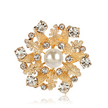 Girl Brooch Trendy Small Imitation Pearl Rhinestone Flower Brooches Pin for Women Men Fashion Clothe Corsage Jewelry Accessories trendy rhinestoned faux pearl brooch for women