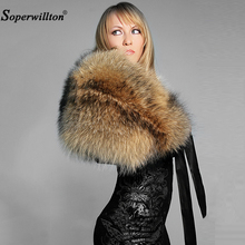 Fur New 2019 Winter 100% Real Natural Fur Collar & Women