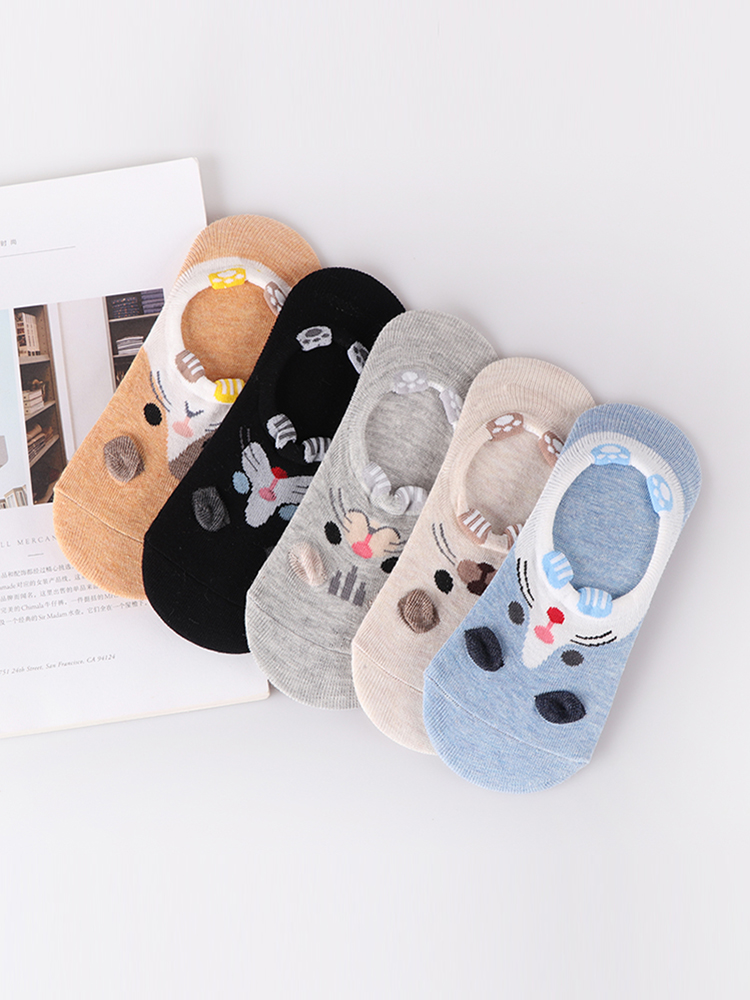 Harajuku Ankle-Sock Happy-Sox Cat Funny Rabbit Korean Bear 28-Style Women Cute 10piece