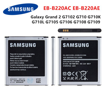 SAMSUNG Orginal EB-B220AC EB-B220AE Battery 2600mAh For Samsung Galaxy Grand 2 G7102 G710 G710K G710L G7105 G7106 G7108 G7109