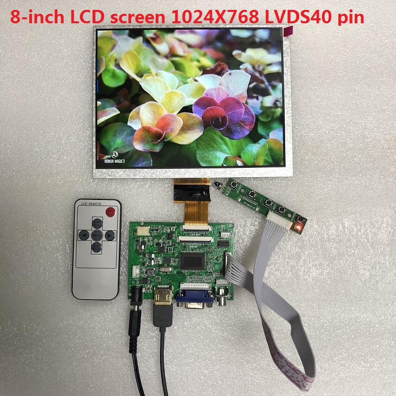 8-inch IPS 1024*768 LCD panel + LCD driver board 8-inch LCD display module DYI kit for Raspberry Pi 3B 2 car LCD module