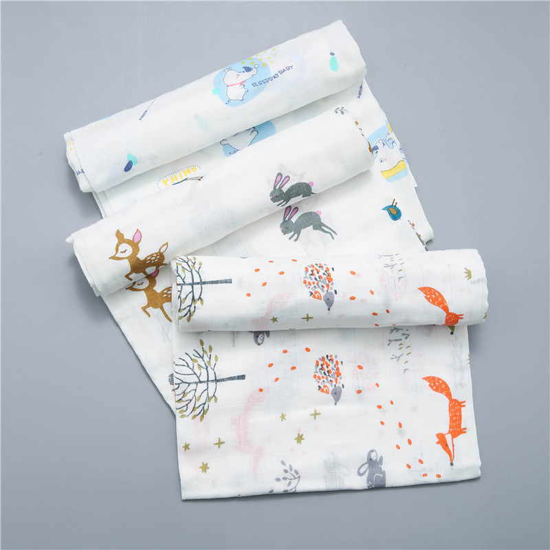 120x110cm Cotton Gauze Blanket Baby Blanket Cotton Baby Blanket Swaddle Wrap Muslin