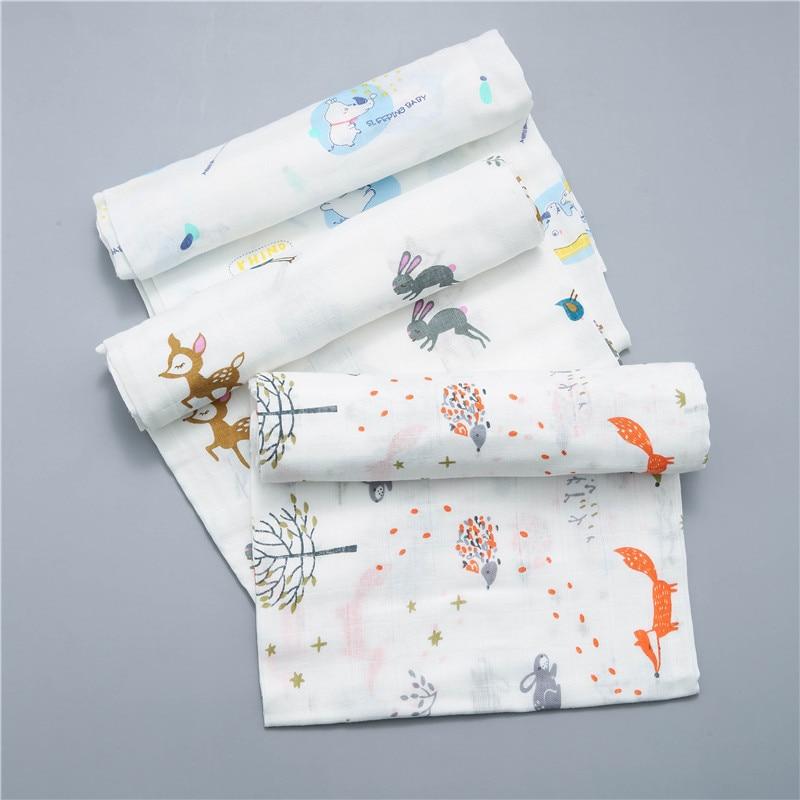 120x110cm Cotton Gauze Blanket Baby Blanket Cotton Baby Blanket Swaddle Wrap Muslin