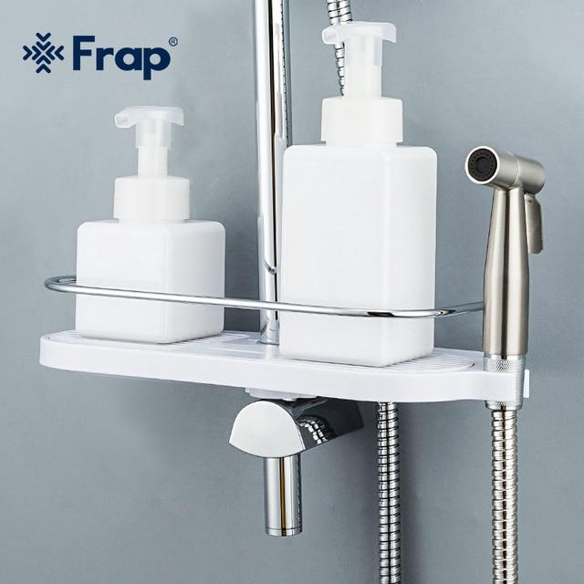 FRAP bathroom shelves wall mounted bath holders rack bath hardware accessories bathroom hanging storage rack
