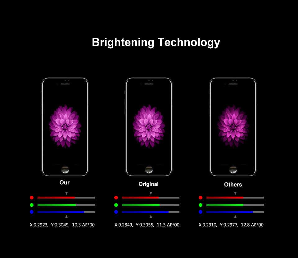 AAAA الصف آيفون 7 7Plus 8 8Plus LCD مع قوة ثلاثية الأبعاد مجموعة المحولات الرقمية لشاشة تعمل بلمس آيفون 7 7Plus عرض لا الميت بكسل