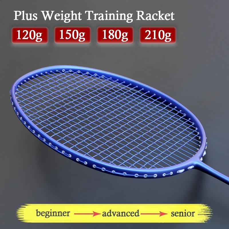 Professional Plus Weigh 120g/150g/180g/210g Training Carbon Badminton Racket Strung Bags Sports Rackets Padel Z Force Racquet