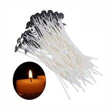 100 шт 15 см качественные хлопковые фитили для свечей, бездымные фитиль для свечей, масляные лампы, сделай сам, принадлежности для изготовления свечей, аксессуары для свечей