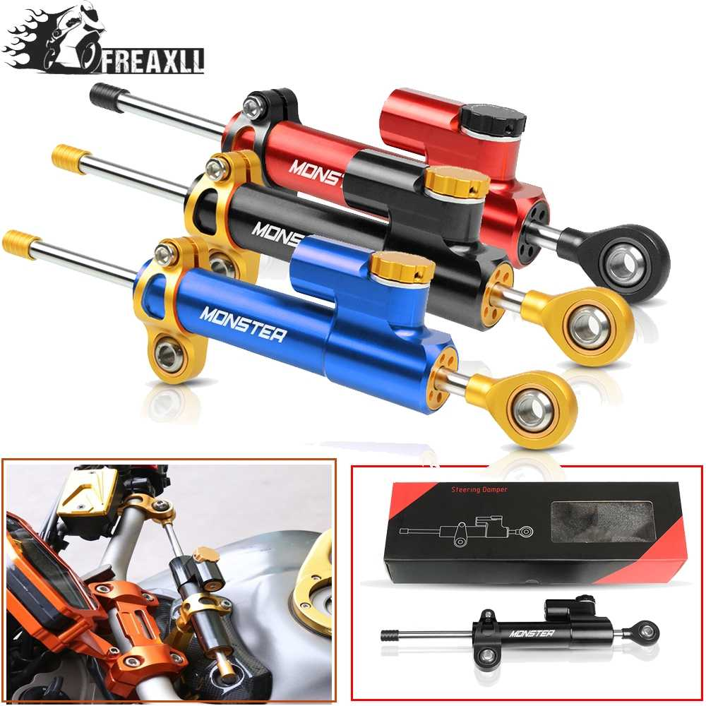 CNC Motorcycle Steering Damper Stabilizer Linear Reversed Safety Control Over For FOR DUCATI Hypermotard Monster 796 696 695