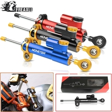 CNC Motorcycle Steering Damper Stabilizer Linear Reversed Safety Control Over For FOR DUCATI Hypermotard Monster 796 696 695 nicecnc steering stabilizer damper for bmw s1000rr r800gs r1200gs ducati 749 999 hypermotard 796 821 848 1098 monster 696 1100