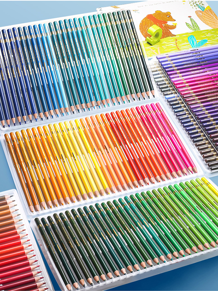 Pencils Art-Supplies Oil-Color Wood Sketch Brutfuner Professional School Soft for Draw